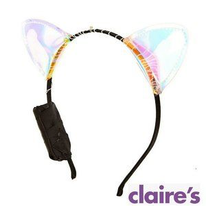 Halloween Light Up Holographic Cat Ears